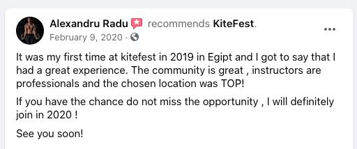 KiteFest reviews on Facebook